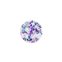 Splatter White Lilac 1  Mini Buttons by MoreColorsinLife