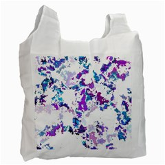 Splatter White Lilac Recycle Bag (Two Side)  by MoreColorsinLife