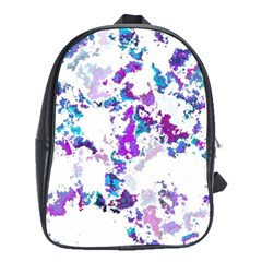 Splatter White Lilac School Bags (xl)  by MoreColorsinLife