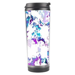 Splatter White Lilac Travel Tumblers by MoreColorsinLife