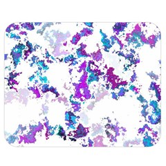 Splatter White Lilac Double Sided Flano Blanket (medium)  by MoreColorsinLife