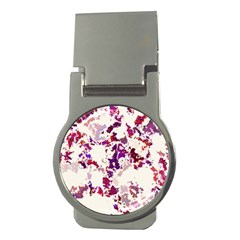 Splatter White Money Clips (round)  by MoreColorsinLife