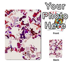 Splatter White Multi Purpose Cards (rectangle)  by MoreColorsinLife