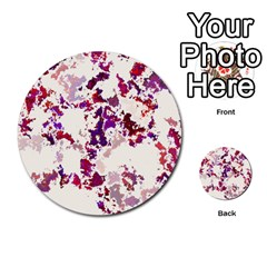 Splatter White Multi Purpose Cards (round)  by MoreColorsinLife