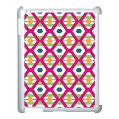 Honeycomb In Rhombus Pattern Apple Ipad 3/4 Case (white) by LalyLauraFLM