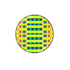 Rectangles And Vertical Stripes Pattern Hat Clip Ball Marker (10 Pack) by LalyLauraFLM