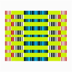 Rectangles And Vertical Stripes Pattern Small Glasses Cloth by LalyLauraFLM