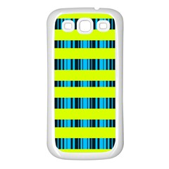 Rectangles And Vertical Stripes Pattern Samsung Galaxy S3 Back Case (white) by LalyLauraFLM