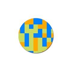 Tetris Shapes Golf Ball Marker (4 Pack) by LalyLauraFLM