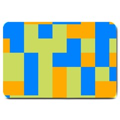 Tetris Shapes Large Doormat by LalyLauraFLM