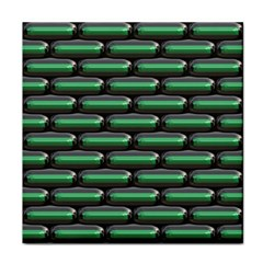 Green 3d Rectangles Pattern Face Towel by LalyLauraFLM