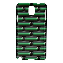 Green 3d Rectangles Pattern Samsung Galaxy Note 3 N9005 Hardshell Case by LalyLauraFLM