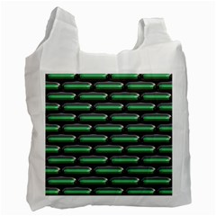 Green 3D rectangles pattern Recycle Bag by LalyLauraFLM