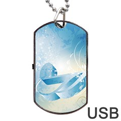 Music Dog Tag Usb Flash (two Sides)  by FantasyWorld7