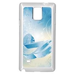 Music Samsung Galaxy Note 4 Case (White) by FantasyWorld7