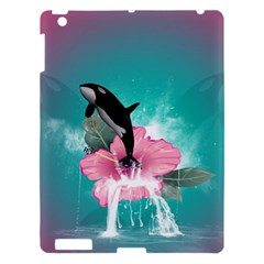 Orca Jumping Out Of A Flower With Waterfalls Apple Ipad 3/4 Hardshell Case by FantasyWorld7