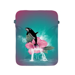 Orca Jumping Out Of A Flower With Waterfalls Apple Ipad 2/3/4 Protective Soft Cases by FantasyWorld7