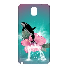 Orca Jumping Out Of A Flower With Waterfalls Samsung Galaxy Note 3 N9005 Hardshell Back Case by FantasyWorld7