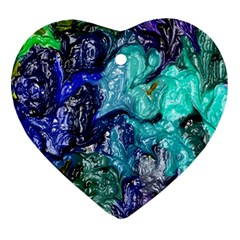 Strange Abstract 1 Heart Ornament (2 Sides) by MoreColorsinLife