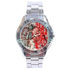 Strange Abstract 3 Stainless Steel Men s Watch by MoreColorsinLife
