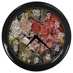 Strange Abstract 5 Wall Clocks (black) by MoreColorsinLife