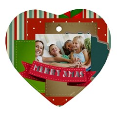 Xmas By Joy   Heart Ornament (two Sides)   Ztt5jp2gfe50   Www Artscow Com Front