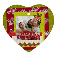 Xmas By Joy   Heart Ornament (two Sides)   Uacf0rewx0nm   Www Artscow Com Back
