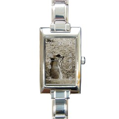 Adorable Meerkat Rectangle Italian Charm Watches by ImpressiveMoments