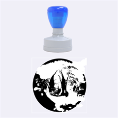 The Forgotten World In The Sky Rubber Round Stamps (Medium) by FantasyWorld7