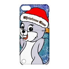 Funny Cute Christmas Mouse With Christmas Tree And Snowflakses Apple Ipod Touch 5 Hardshell Case With Stand by FantasyWorld7