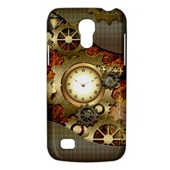 Steampunk, Wonderful Steampunk Design With Clocks And Gears In Golden Desing Galaxy S4 Mini by FantasyWorld7