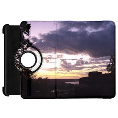 Sunset Over The Valley Kindle Fire HD Flip 360 Case by canvasngiftshop