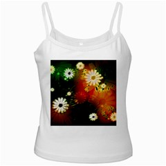 Awesome Flowers In Glowing Lights Ladies Camisoles by FantasyWorld7