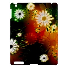 Awesome Flowers In Glowing Lights Apple Ipad 3/4 Hardshell Case by FantasyWorld7