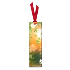 Beautiful Flowers With Leaves On Soft Background Small Book Marks by FantasyWorld7
