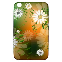 Beautiful Flowers With Leaves On Soft Background Samsung Galaxy Tab 3 (8 ) T3100 Hardshell Case  by FantasyWorld7