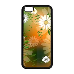 Beautiful Flowers With Leaves On Soft Background Apple Iphone 5c Seamless Case (black) by FantasyWorld7