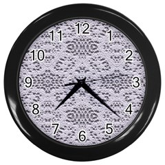 Bridal Lace 3 Wall Clocks (black) by MoreColorsinLife