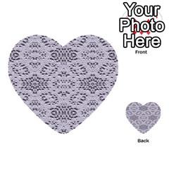 Bridal Lace 3 Multi Purpose Cards (heart)