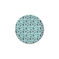 Vintage Paisley Aqua Golf Ball Marker (4 Pack) by MoreColorsinLife