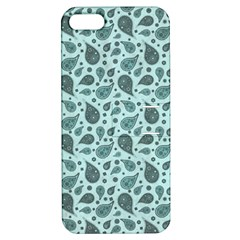 Vintage Paisley Aqua Apple Iphone 5 Hardshell Case With Stand by MoreColorsinLife