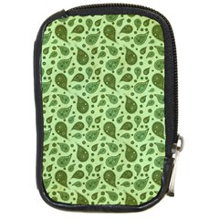 Vintage Paisley Green Compact Camera Cases by MoreColorsinLife