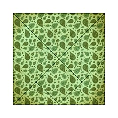 Vintage Paisley Green Acrylic Tangram Puzzle (6  X 6 ) by MoreColorsinLife