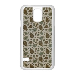 Vintage Paisley Grey Samsung Galaxy S5 Case (white) by MoreColorsinLife