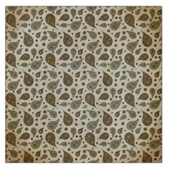 Vintage Paisley Grey Large Satin Scarf (square) by MoreColorsinLife