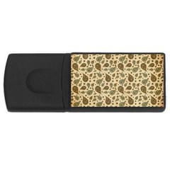 Vintage Paisley USB Flash Drive Rectangular (2 GB)  by MoreColorsinLife