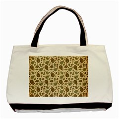 Vintage Paisley Basic Tote Bag  by MoreColorsinLife