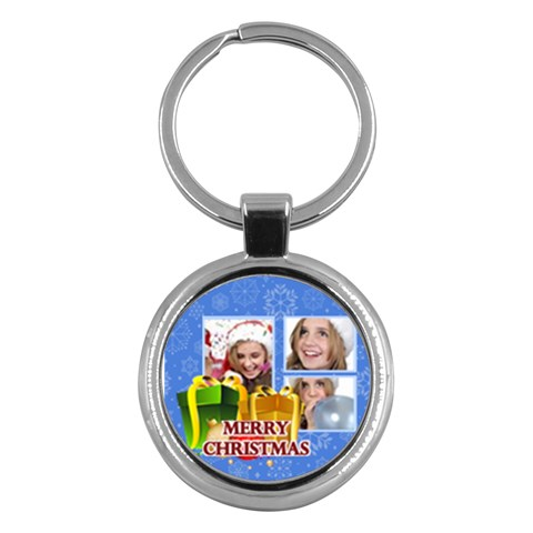 Merry Christmas By M Jan   Key Chain (round)   Rjs7wr7ykvfn   Www Artscow Com Front