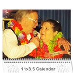 momdadfinish - Wall Calendar 11  x 8.5  (18 Months)