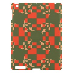 Green Orange Shapes Apple Ipad 3/4 Hardshell Case by LalyLauraFLM